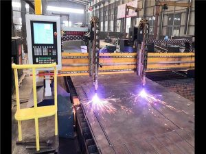 Cổng đôi máy cắt plasma cnc h dòng sản xuất chùm tia hypertherm hệ thống cnc