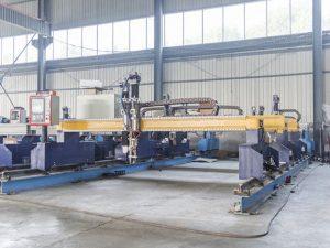 Gantry loại máy cắt tấm kim loại cnc tự động plasma và máy cắt ngọn lửa